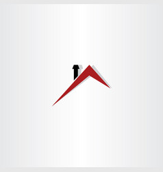 roof house logo symbol design vector image