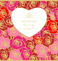 Rose wedding background vector