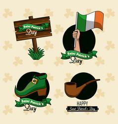 saint patricks day emblems vector image