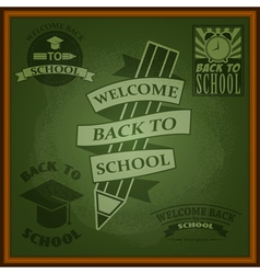 school2 vector image