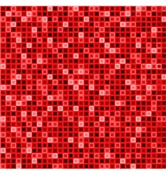Seamless abstract pattern with squares in red vector image