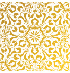 seamless texture golden vintage pattern vector image