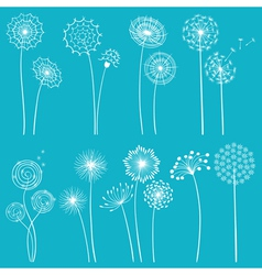 Set of dandelions vector