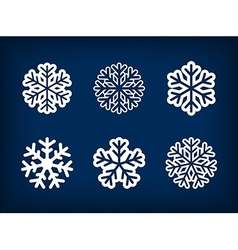 set winter snowflake vector image