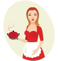 sexy girl chef vector image