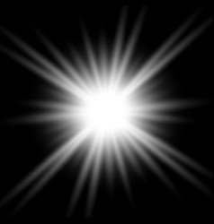 shining star on transparent background white color vector image