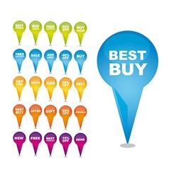 Shopping best buy design vector