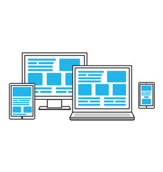simple for cross platform web design vector image