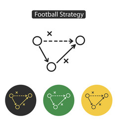 soccer strategy icon vector image