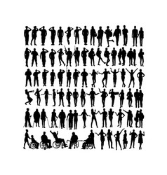 Soldier and activity people silhouettes vector