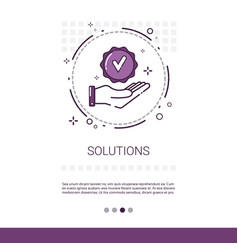 Solution think new idea inspiration creative vector