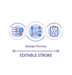 Strategic planning concept icon vector