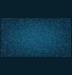 stream binary matrix code on full screen vector image