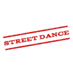 Street Dance Watermark Stamp vector image