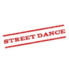 Street Dance Watermark Stamp vector