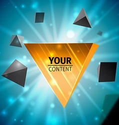 Stylish pyramid cover design vector