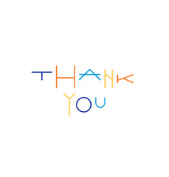 thank you sign colorful typography text vector image