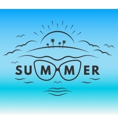 The emblem on theme summer holiday vector