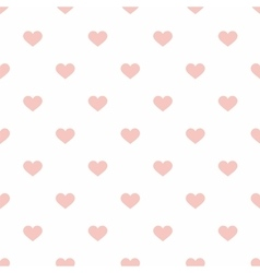 Tile pastel hearts on white background pattern vector