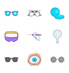 Treatment vision icons set cartoon style vector image