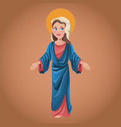 virgin mary spiritual belief blessed vector image