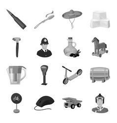 Weapons food parking and other web icon in vector