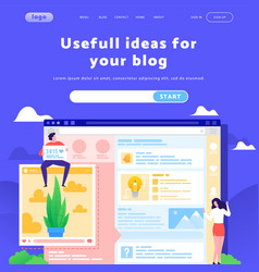 Web site design template social media and vector