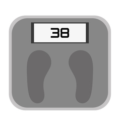 weight scale icon design vector image