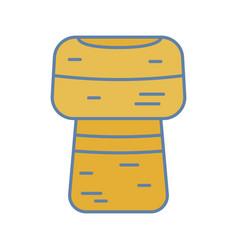 Wine cork color icon vector