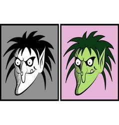 Witch halloween mask 4 vector