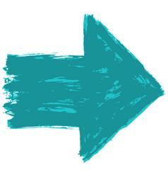 arrow symbol sketch brushstroke vector image
