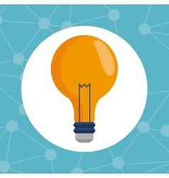 bulb idea innovation creativity vector image vector image