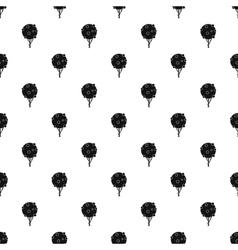 Fruit tree pattern simple style vector image