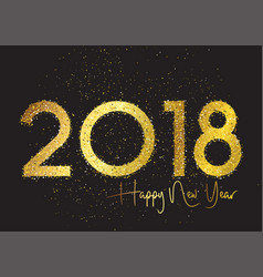 glitter happy new year background vector image vector image