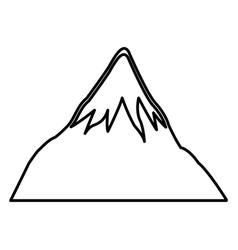 mount fuji japan landscape natural line vector image