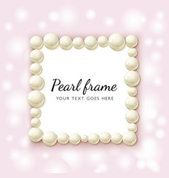 Pearl beads frame vector