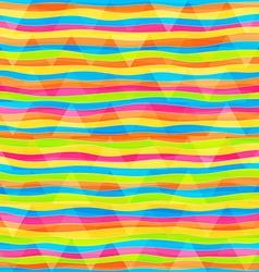 rainbow lines seamless pattern vector image
