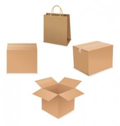 shipping box vector image