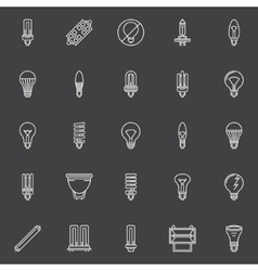 Bulbs icons set vector image vector image
