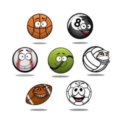 Cartoon funny balls characters vector image vector image