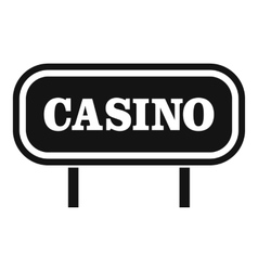Casino sign icon simple style vector image