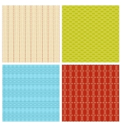 Set of 4 abstract geometrical ethnic seamless vector image