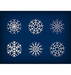 Decorative snowflakes winter christmas set vector image vector image