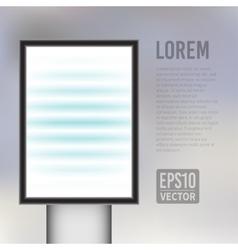 empty vertical light billboard background vector image