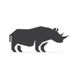 rhino logo vector image vector image