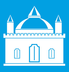 royal castle icon white vector image vector image
