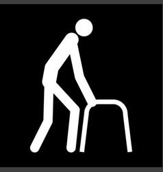 sick man white color icon vector image