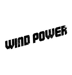 wind power rubber stamp vector image