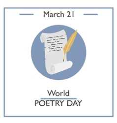 World Poetry Day vector image vector image