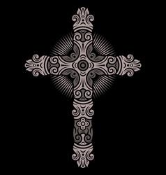 antique cross ornament vector image